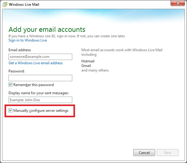 Windows Live Mail 2