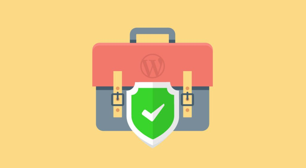 graphic of wordpress briefcase with security seal