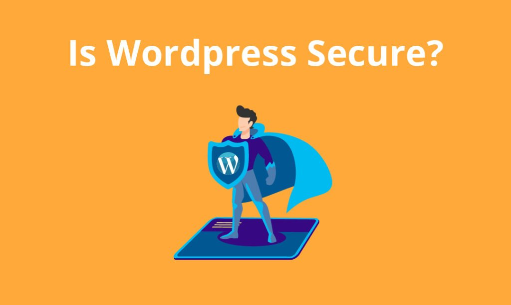 graphic of wordpress superhero