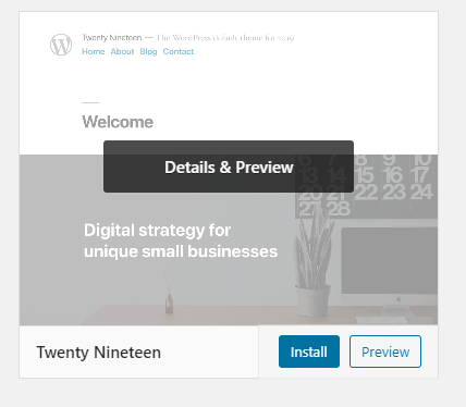 New theme option on WordPress