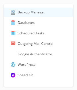 Backup Manager location in Plesk