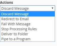 screenshot of discard message action