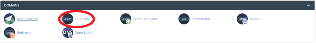 Domains location in cPanel