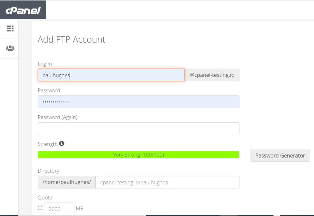 create an FTP account on UKHost4U.com